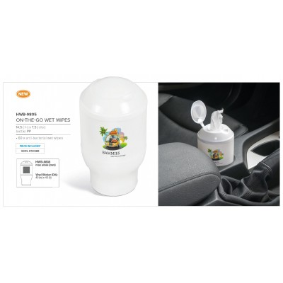 On-The-Go Wet Wipes White