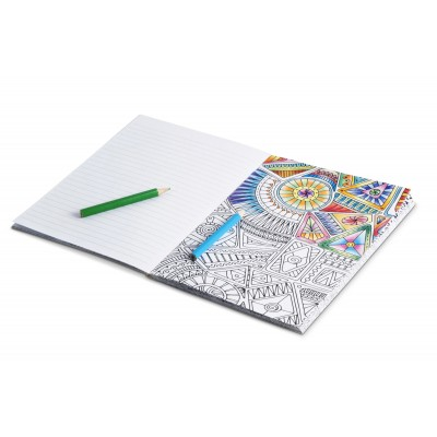 Unwind Adult Colouring Notebook White