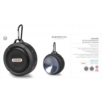 Splash Waterproof Bluetooth Speaker Black