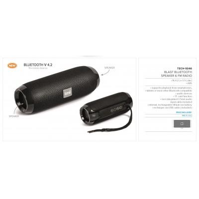 Blast Bluetooth Speaker & Fm Radio Black