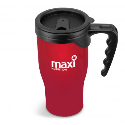Jazzy Double-Wall Travel Mug - 410ml Red
