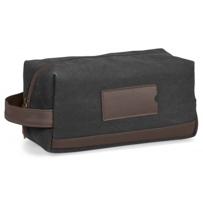 Hamilton Canvas Toiletry Bag Charcoal