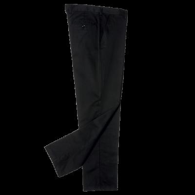 Flat Front Chino Black Size 44