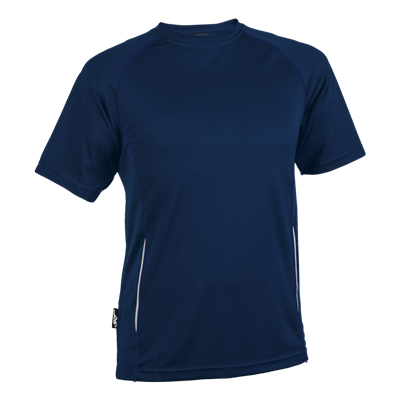 BRT Kiddies Running Shirt Navy Size 7 to 8