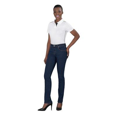 Ladies Fashion Denim Jeans Dark Blue Size 34