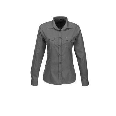 Ladies Long Sleeve Kensington Shirt Grey Size 4XL