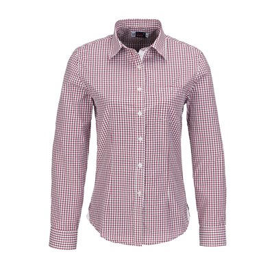 Ladies Long Sleeve Kenton Shirt Red Size Medium