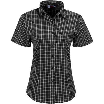 Ladies Short Sleeve Aston Shirt Black Size Medium