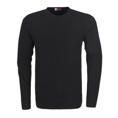 Mens Long Sleeve Portland T-Shirt Black Size Small