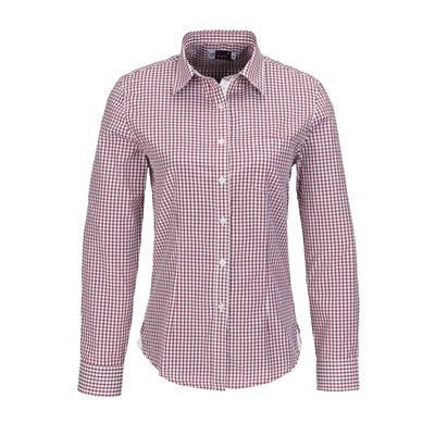 Ladies Long Sleeve Kenton Shirt Red Size XL