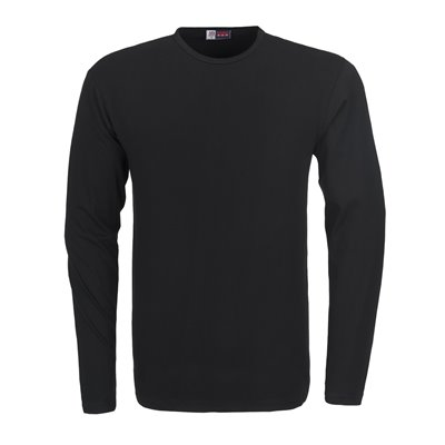 Mens Long Sleeve Portland T-Shirt Black Size Large