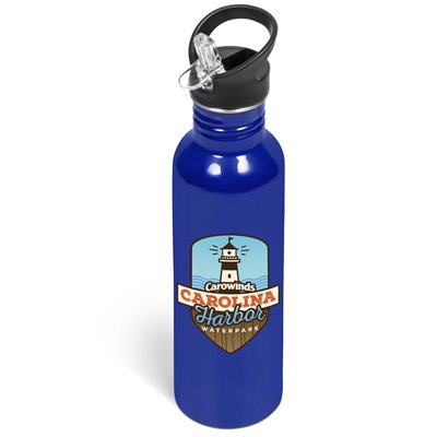 Ventura Flip Valve Lid Drink Bottle - 750ml Blue