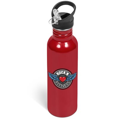 Ventura Flip Valve Lid Drink Bottle - 750ml Red