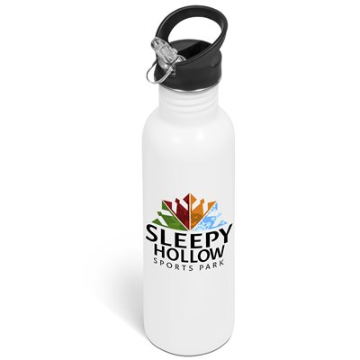 Ventura Flip Valve Lid Drink Bottle - 750ml White