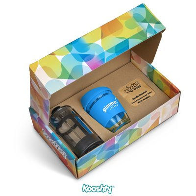 Kooshty Brew Koffee Set With Black Plunger Cyan