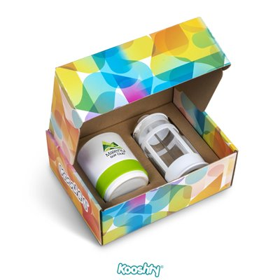 Kooshty Kaleido Koffee Set Lime