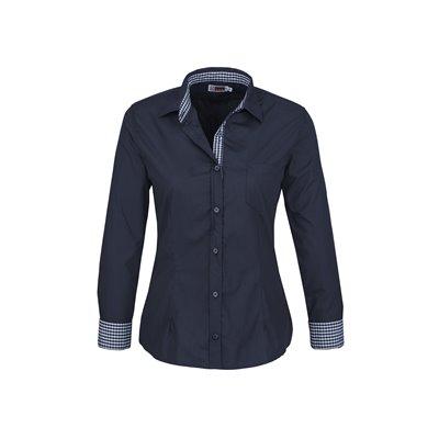 Ladies Long Sleeve Warrington Shirt Navy Size 3XL