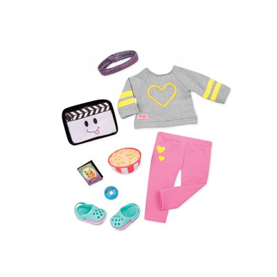 Our Generation Deluxe Home Cinema Outfit - Movie Night