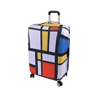 Stretch Luggage Cover - 28 inch [Checkered] Denim