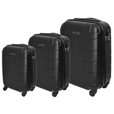 Marco Expedition 3-Piece Luggage Set Black