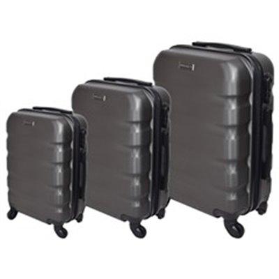 Marco Aviator 3-Piece Luggage Set Grey