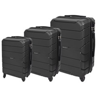 Marco Quest 3-Piece Luggage Set Black