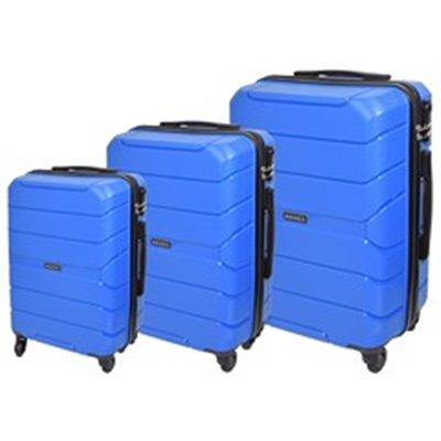 Marco Quest 3-Piece Luggage Set Blue