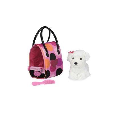 Pucci Pups-Polka Dot Glam Bag & Bichon Frisé Pup