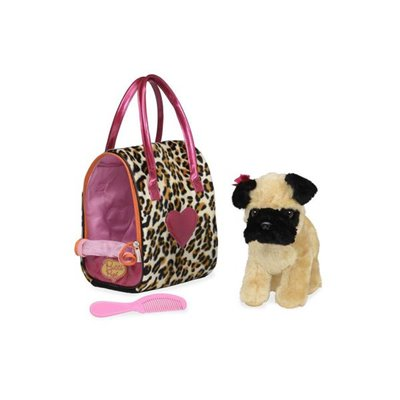 Pucci Pups-Leopard Plush Glam Bag & Pug