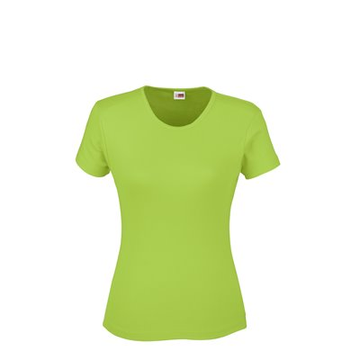 US Basic Ladies California T-Shirt Lime Size XL