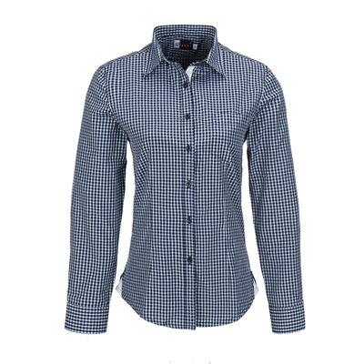 US Basic Ladies Long Sleeve Kenton Shirt Navy Size 3XL