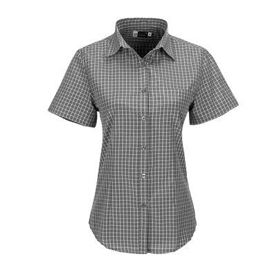 US Basic Ladies Short Sleeve Aston Shirt Grey Size S