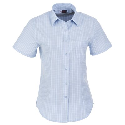 US Basic Ladies Short Sleeve Aston Shirt Light Blue Size 2XL
