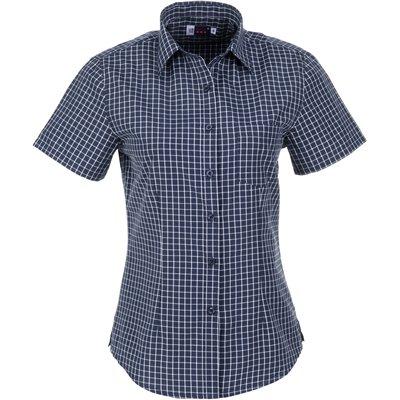 US Basic Ladies Short Sleeve Aston Shirt Navy Size 2XL
