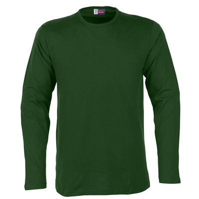 US Basic Mens Long Sleeve Portland T-Shirt Green Size 5XL