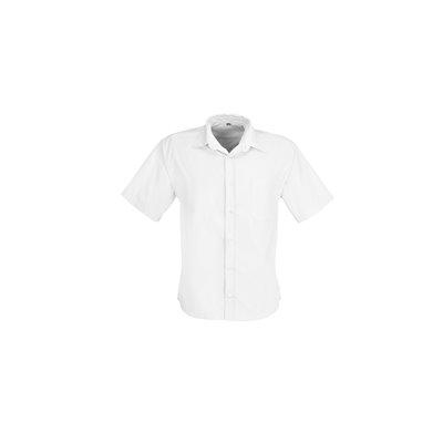 US Basic Mens Short Sleeve Milano Shirt White Size 4XL