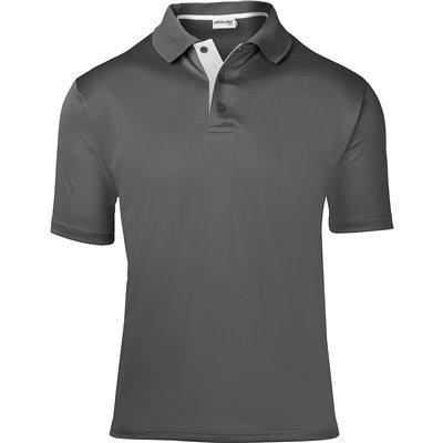 Kids Tournament Golf Shirt Grey Size 14