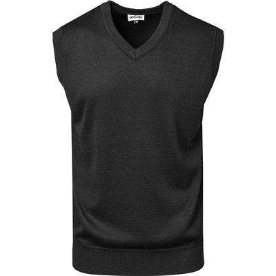 Mens Sleeveless Peru V-Neck Jersey Black Size 2XL