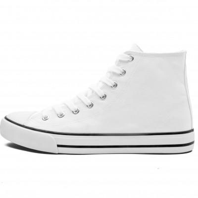 Unisex Retro High Top Canvas Sneaker White Size 12