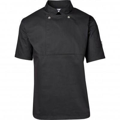 Unisex Short Sleeve Cannes Utility Top Black Size 4XL
