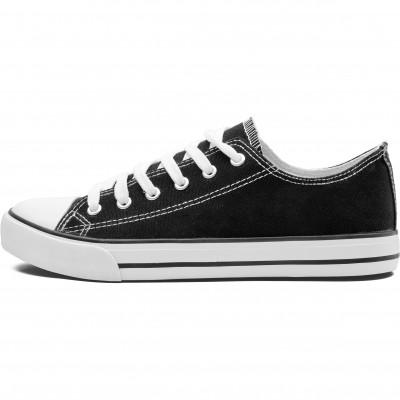 Unisex Trendi Canvas Sneaker Black Size 9