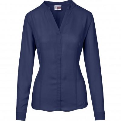 US Basic Ladies Long Sleeve Ava Blouse Navy Size 3XL