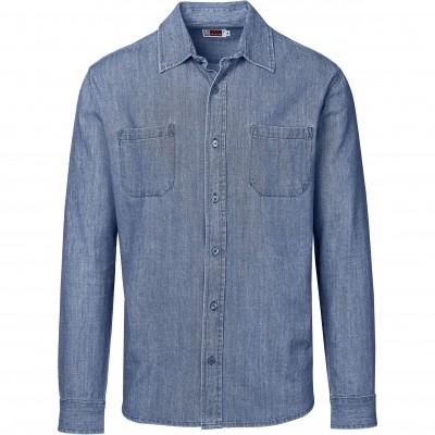 US Basic Mens Long Sleeve Eastwood Shirt Blue Size 2XL