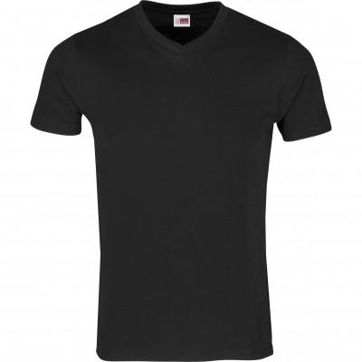 US Basic Mens Super Club 165 V-Neck T-Shirt Black Size 5XL