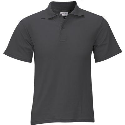 Kids Basic Pique Golf Shirt Charcoal Size 14