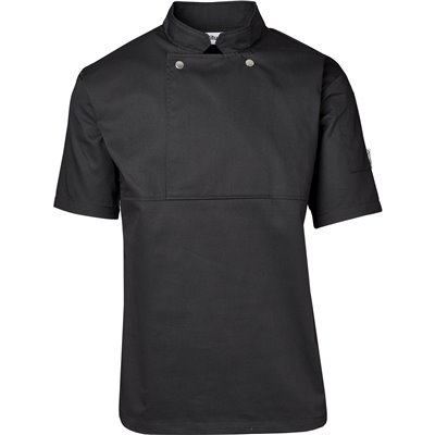 Unisex Short Sleeve Cannes Utility Top Black Size S