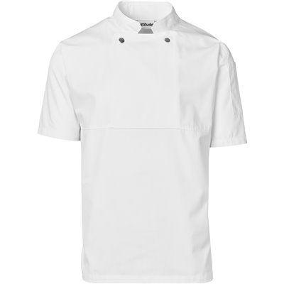 Unisex Short Sleeve Cannes Utility Top White Size 5XL