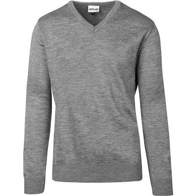 Mens Heavyweight Ecuador V-Neck Jersey Grey Size L
