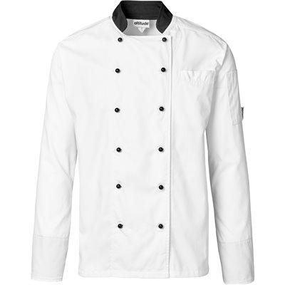 Unisex Long Sleeve Toulon Chef Jacket White Size 2XL