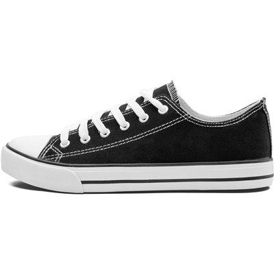 Unisex Trendi Canvas Sneaker Black Size 6